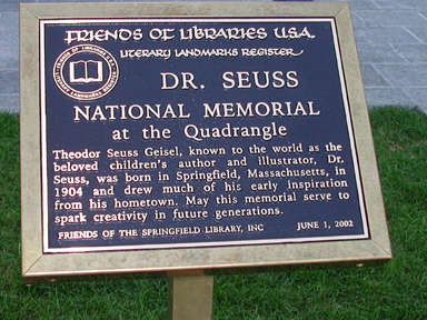 Plaque - note date, one week before we were there